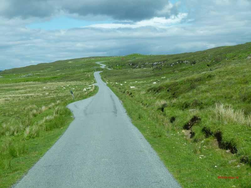 Die Single Track Road zurück nach Broadford