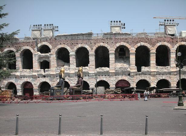 die weltberühmte Arena von Verona