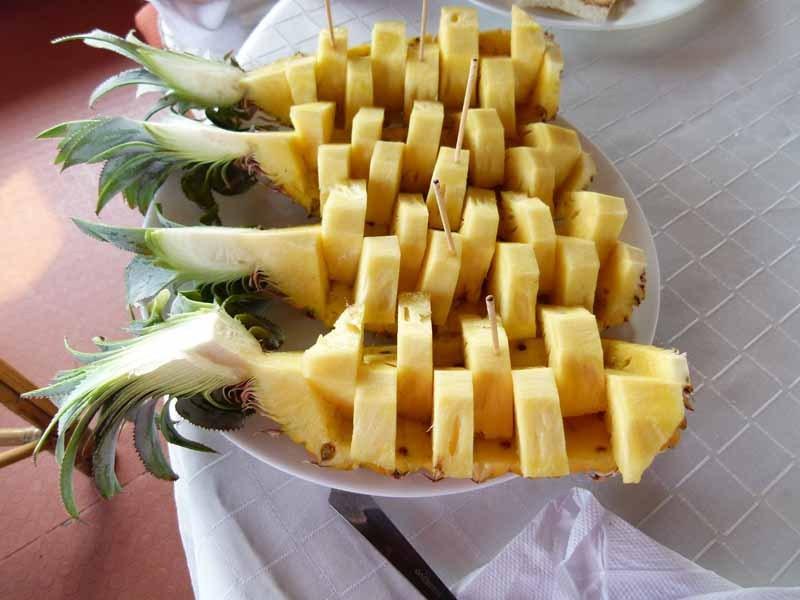 Und hinterher eine Ananas