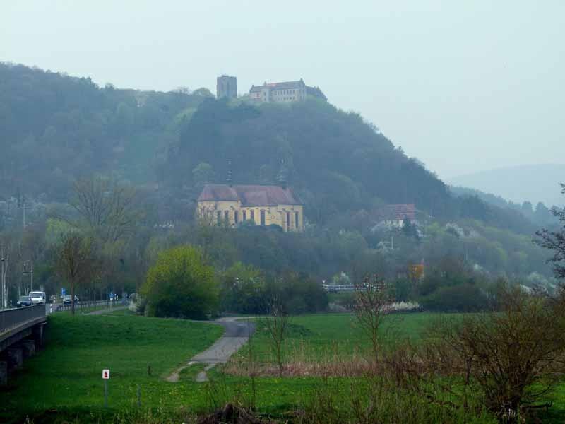 Vom Stellplatz sichtbar - Burg Saaleck