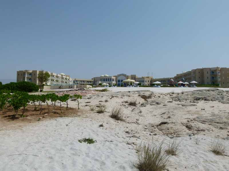 Das Hotel von der Strandseite