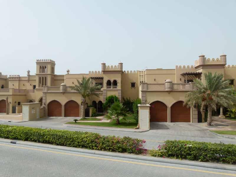 Häuser auf der Palme