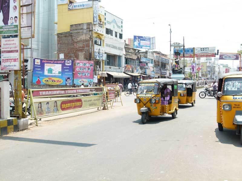 Strassenverkehr in Thanjavur
