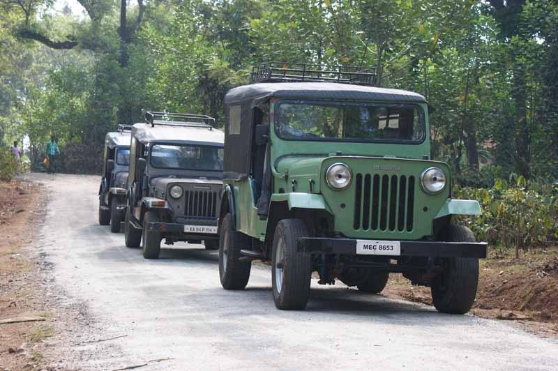 Jeeps bringen uns in den Busch