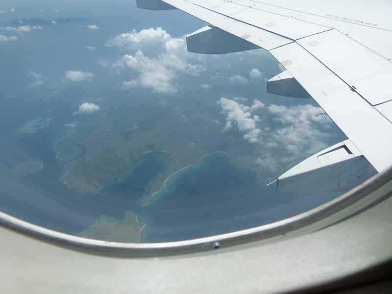 Schöne indonesische Inselwelt von oben