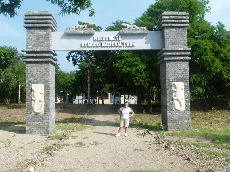 Eingang zum Nationalpark Komodo