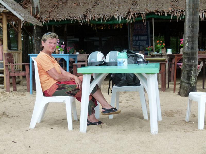 Eine der ungezählten Strandbuden