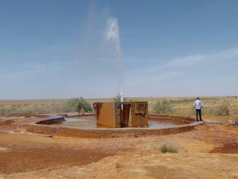 12.4. - Wasserfontäne in der Wüste