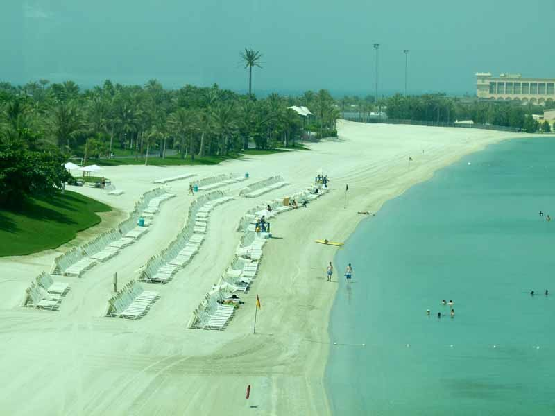 Strand auf der Palme