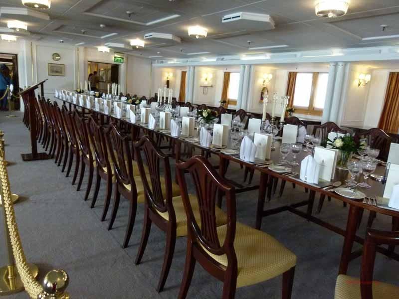 Der Speisesaal für 56 Gäste