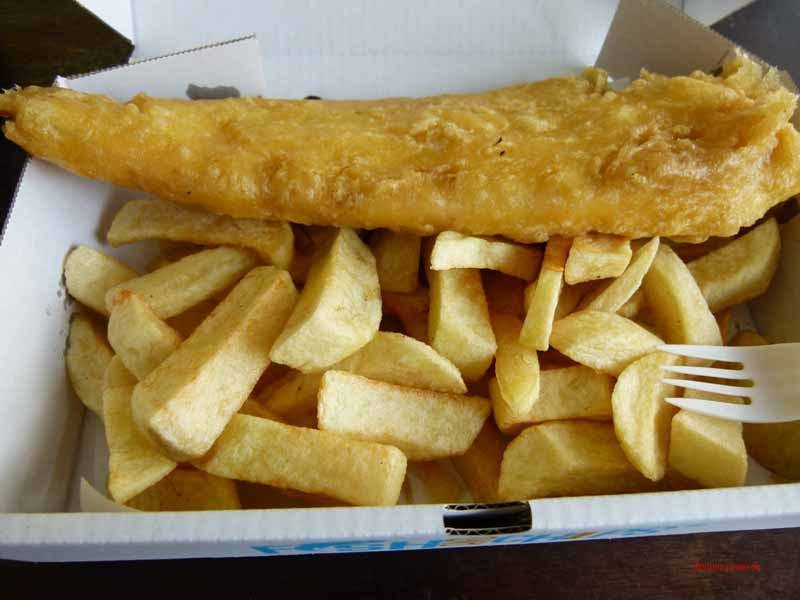 Aber Fish und Chips sind viel zu fett frittiert