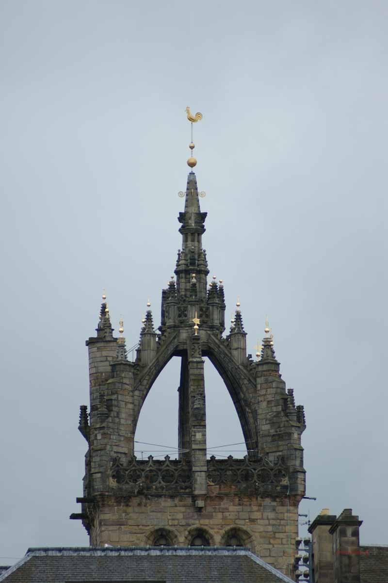 St. Giles Kathedrale - die Spitze hat die Form einer Krone