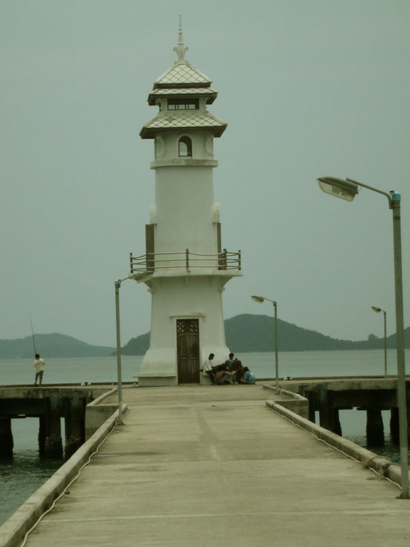 Der Leuchtturm am Ende des Ortes