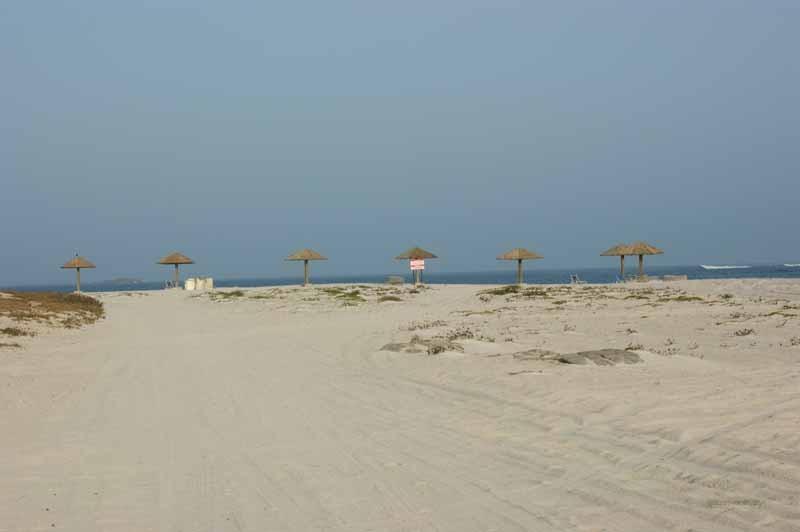 Der Strand vor den zum Hotel gehörigen Chalets