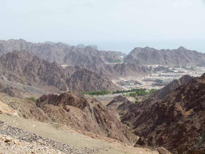 Herrliche Berglandschaft Omans