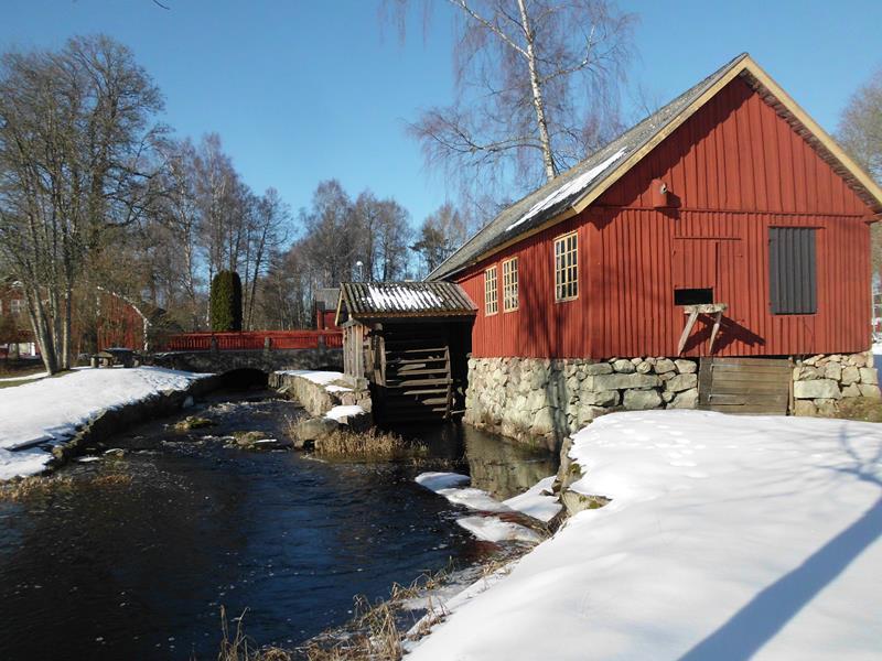 Wassermühle an der Südschwedischen Seenplatte.