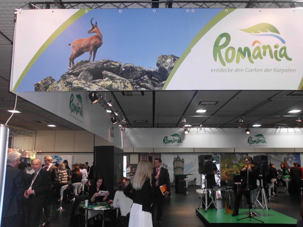Unterhaltungsprogramm am Stand Rumänien