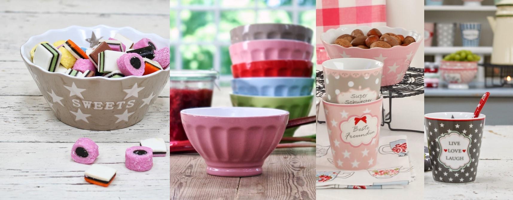 Geschirr, Mugs, Porzellan trendy und pudrigen Farben!