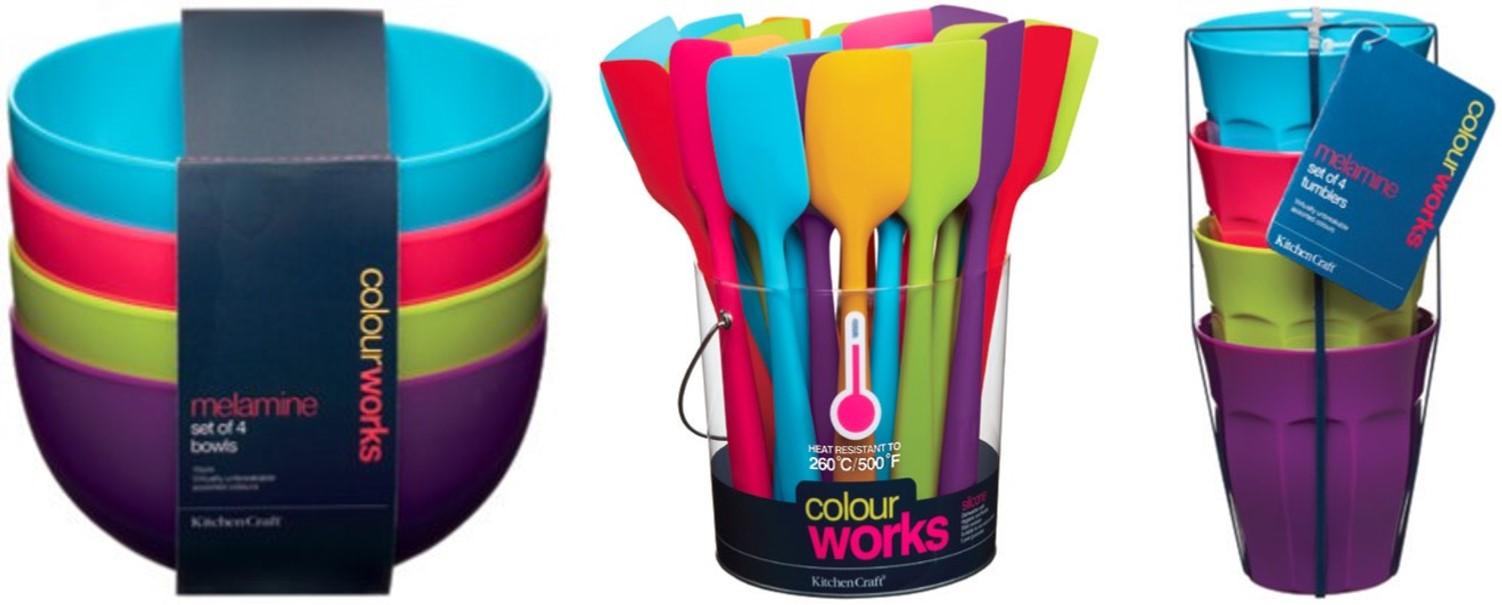 Backzubehör mit bunten Farben kreativ!