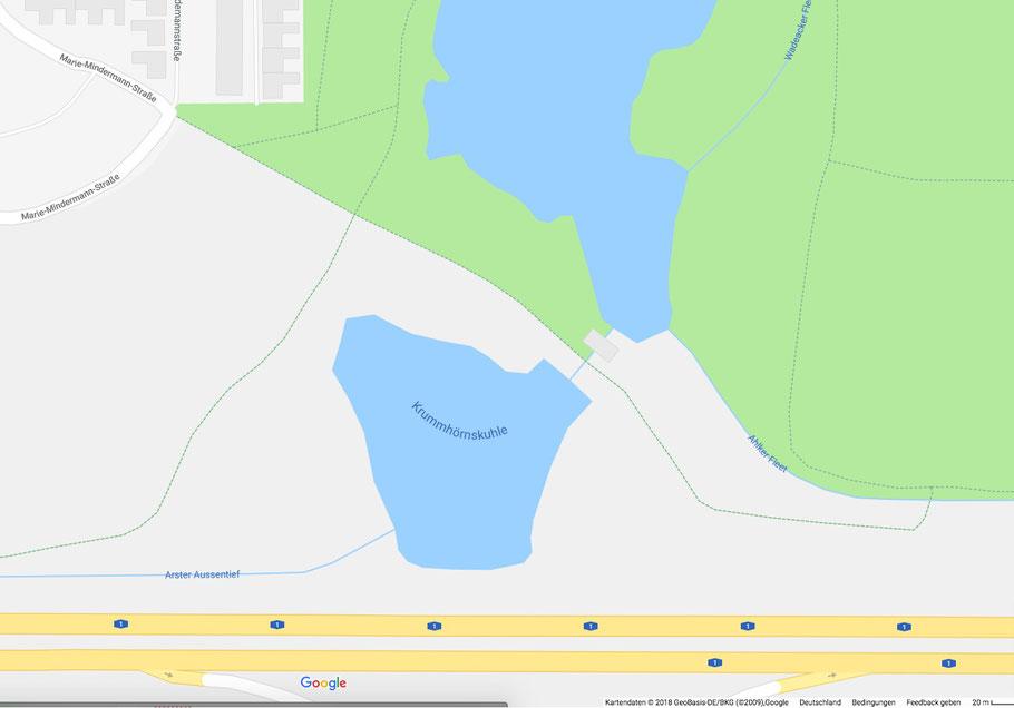 Krumhörnskuhle am Wadeackersee in Bremen-Kattenesch