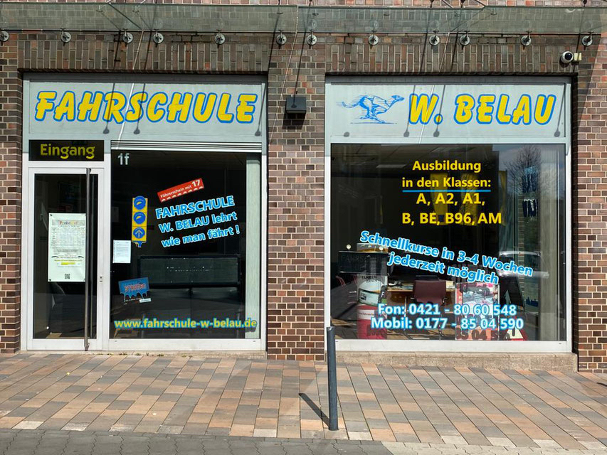 Fahrschule W. Belau Filiale Kattenturm Gorsemannstraße 1 F  28277 Bremen