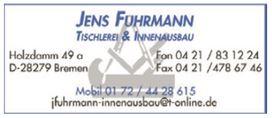 Jens Fuhrmann Tischlerei und Innenausbau 28279 Bremen