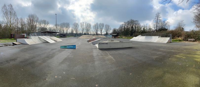 Panoramablick in Winteratmosphäre (Foto: 03-2020): Funpark Bremen in 28277 Bremen Kattenturm