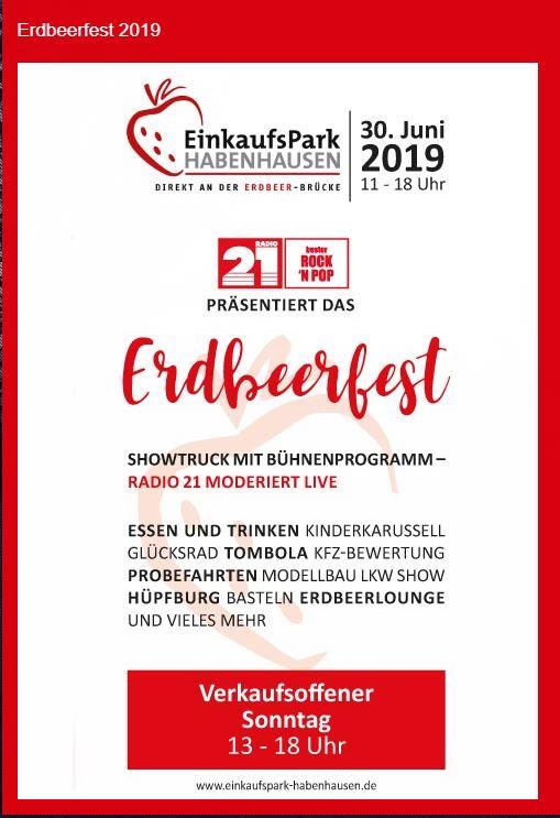 Erdbeerfest 2019 direkt an der Erdbeer-Brücke in Bremen-Habenhausen