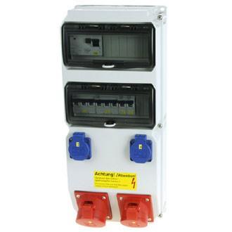 Spezial-Steckdosenkombination für Schweißer-Kabinen mit Induktionsstrom-Steuerung