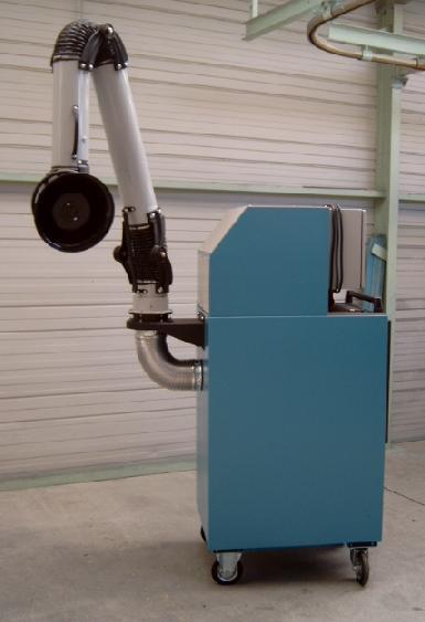 Absaugung Alu-Schleifstaub - Gerät mit Absaugarm gemäß ATEX und BGR 109