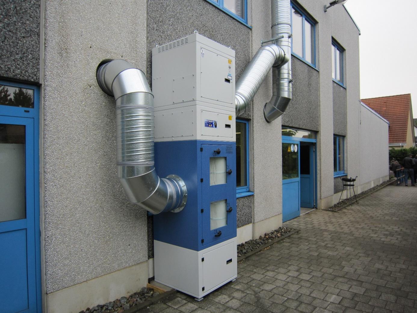Druckluftabgereinigte Patronenfilter (Außenaufstellung)