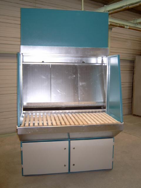 Wasserbedüster Schleifarbeitstisch für Aluminiumstäube nach ATEX