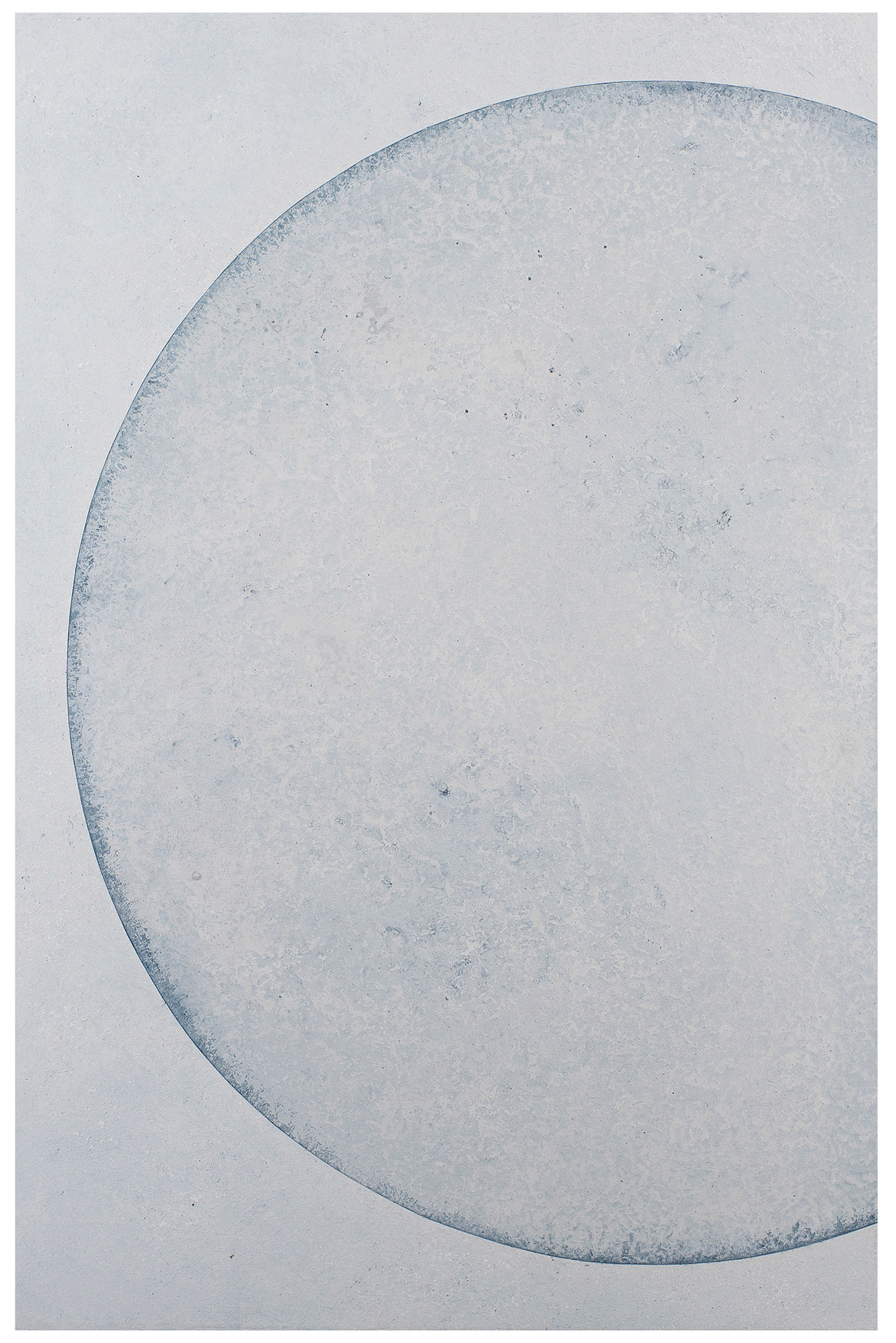 The moon - Lacquered finition in wax - Size :  60 x 90 cm