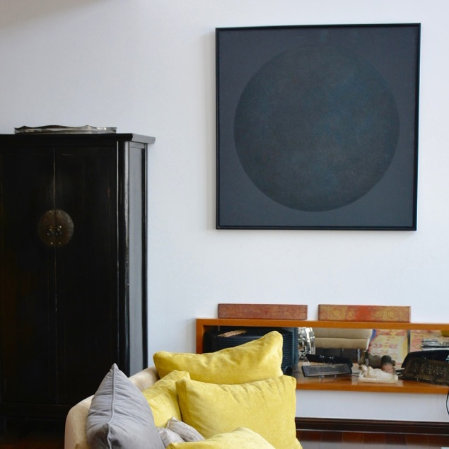 Black moon - Paintings collection - particular client - Lausanne