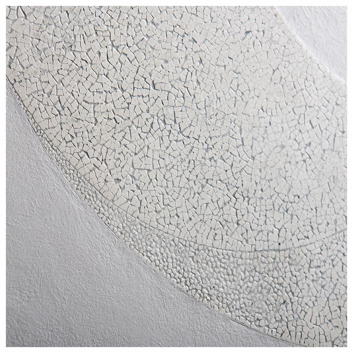L'œil de la lune - Laque avec incrustation de coquilles d'œufs, finition cirée - Dimension : 60 x 90 cm