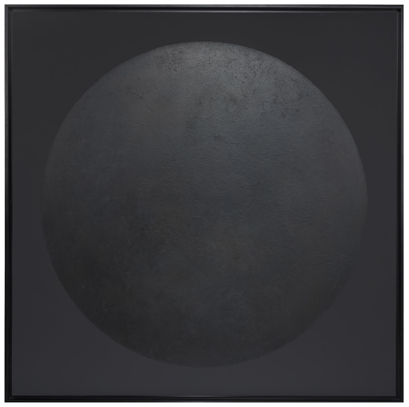 La lune noire - Laque finition cirée - Dimension : 120 x 120 cm