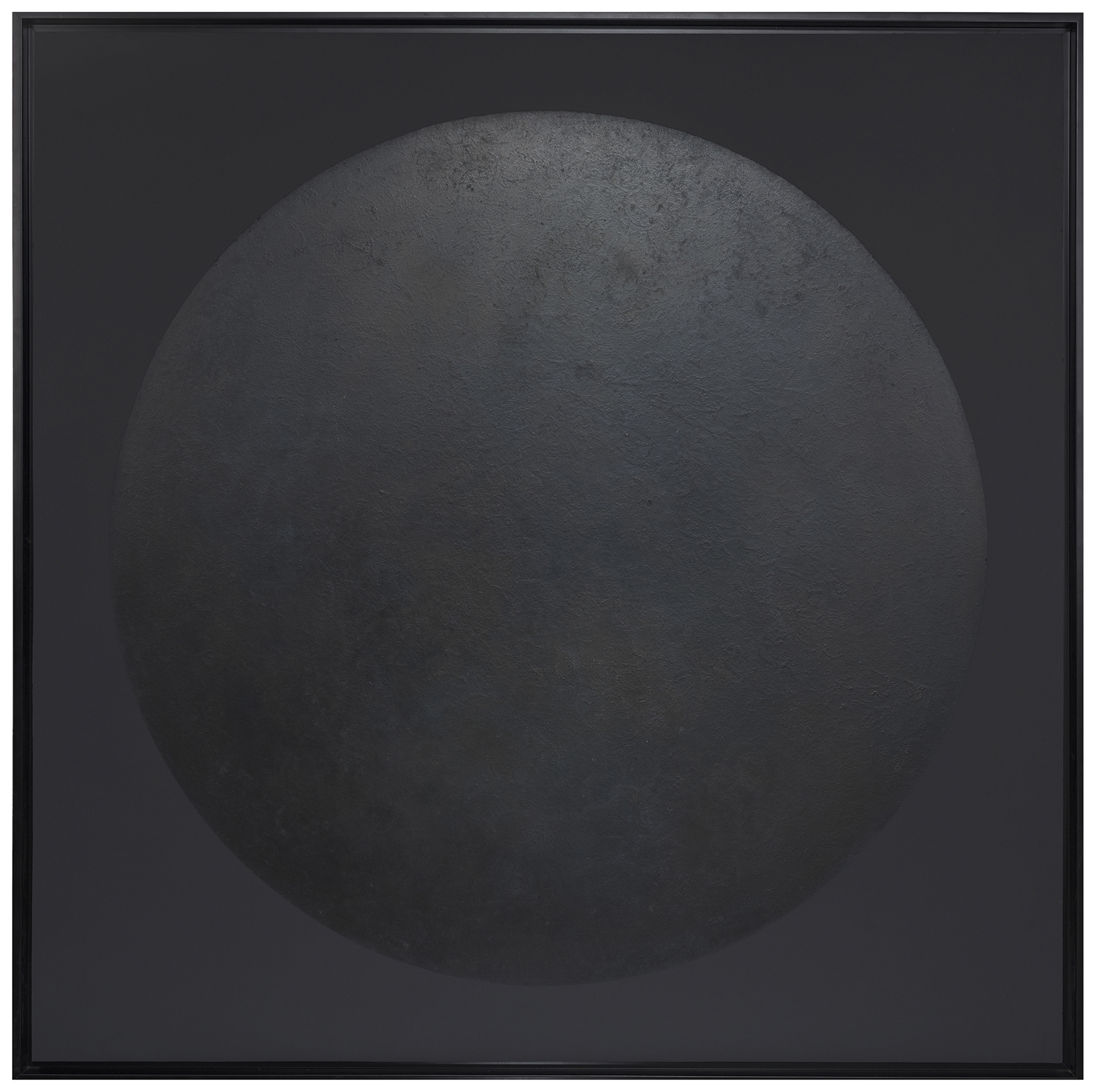 Black moon - Lacquered finition in wax - Size :  120 x 120 cm