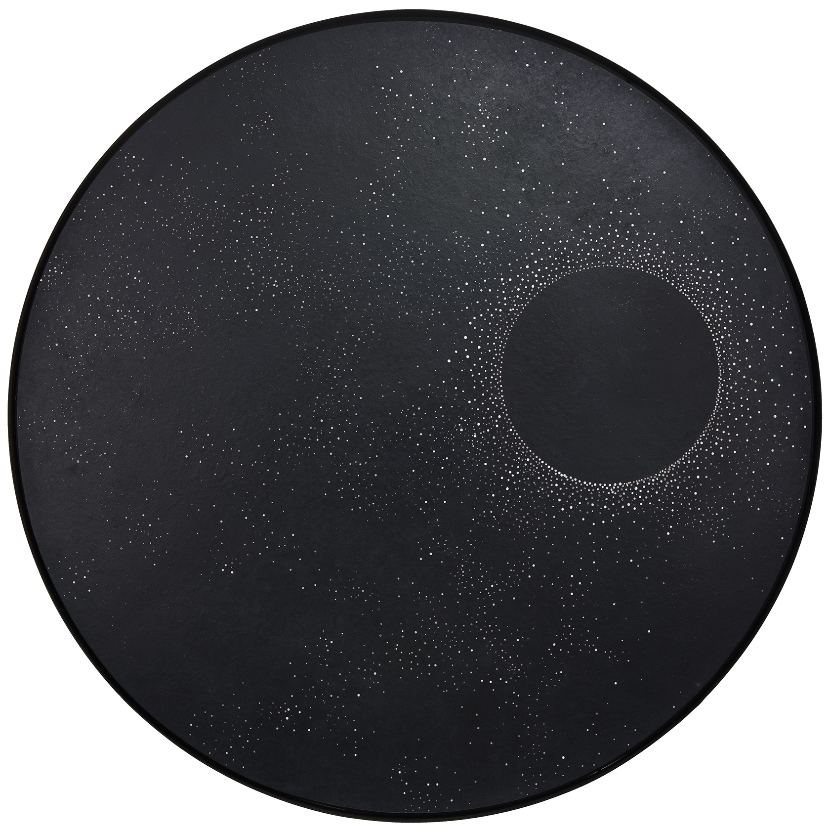 La constellation - Laque finition cirée, détails creusés dans le bois - Dimension : 100 cm dia