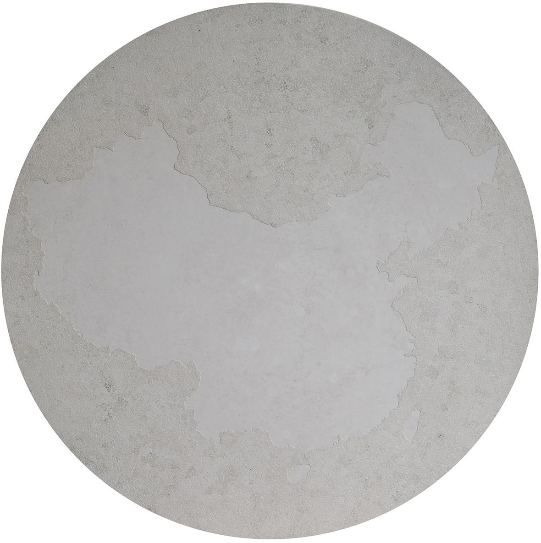 Yin Yang  - Laque avec incrustation de coquilles d'œufs, finition vernis - Dimension : 2 x 80 cm dia