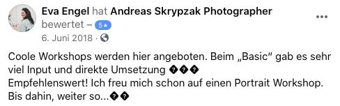 Teilnehmermeinung zum Fotoworkshop in Leverkusen NRW