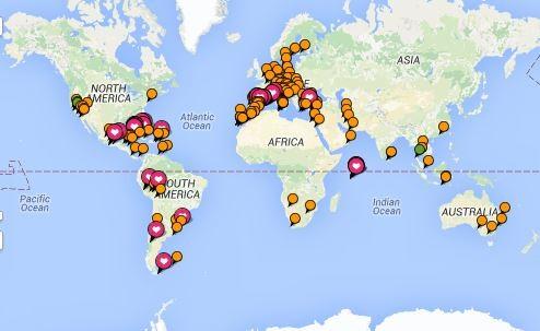 Urlaubsziele Reiseziele Urlaubsorte an denen ich bereits gewesen bin