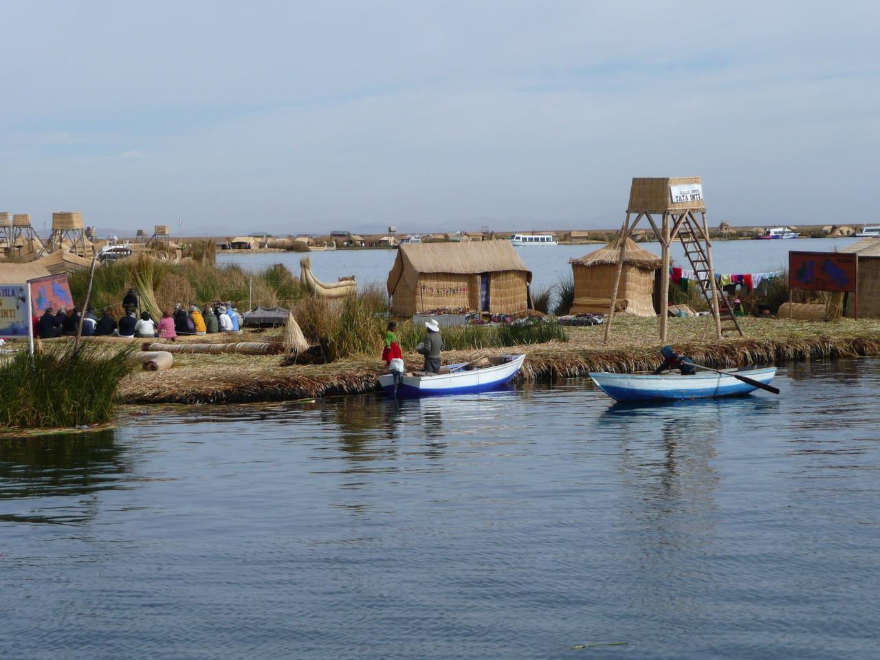 Isla de los Uros Titicaca See