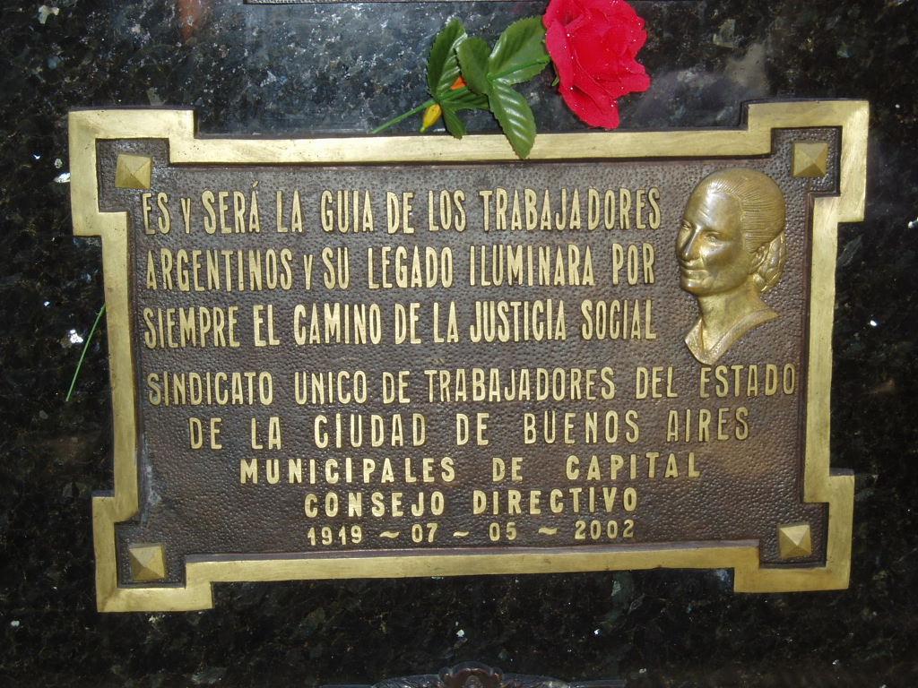 Grab von Eva Perón in Buenos Aires
