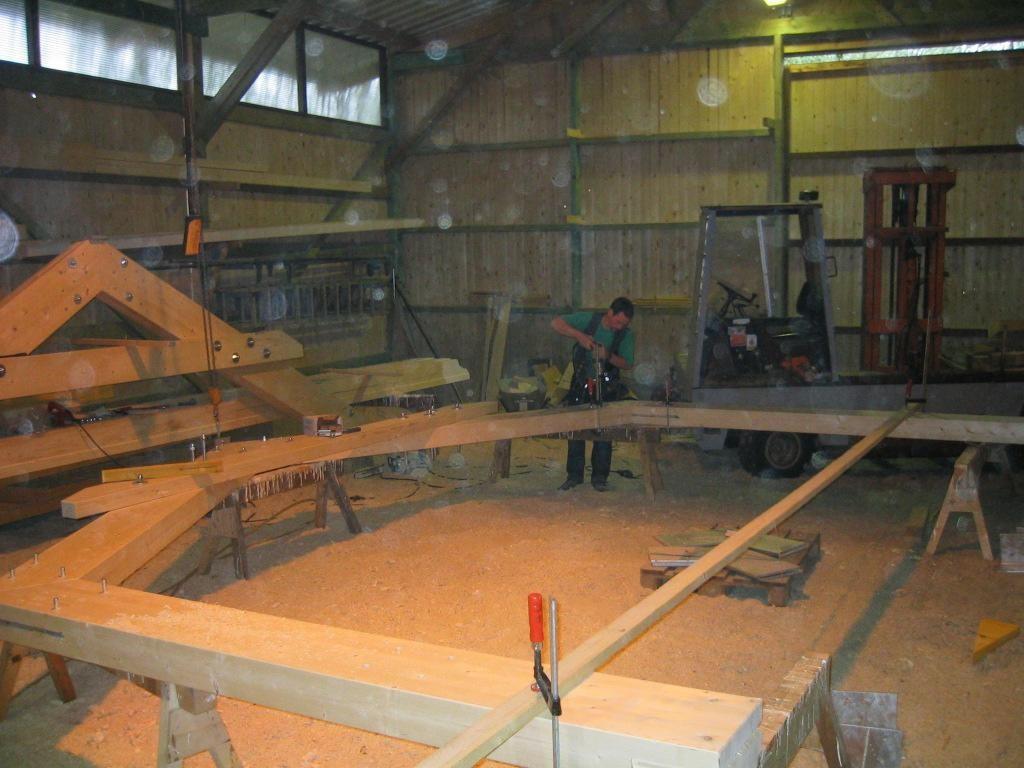 Träger für Dachkonstruktion des Fachwerkhauses