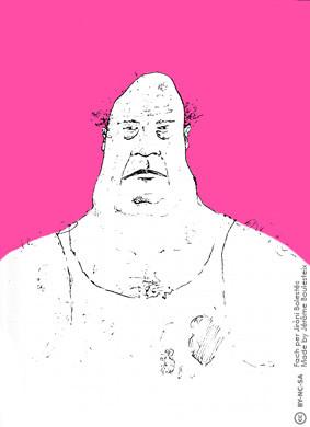 Le gros - fond rose