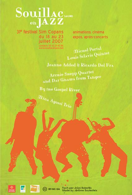 Aficha Fest. Souillac en Jazz