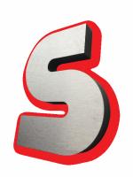Wer die exklusive Ausstrahlung bevorzugt, kann diese Buchstaben auch mit einer Edelstahlauflage erhalten.