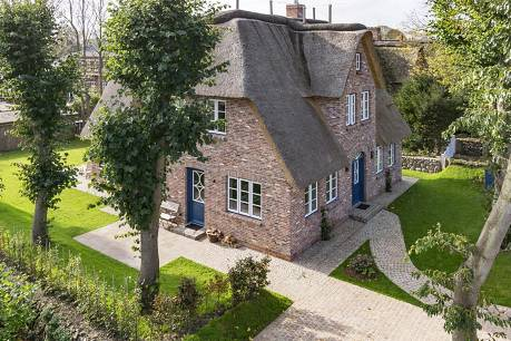 Beispiel für ein Reetdachhaus