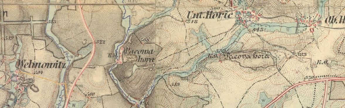 In den 1870er Jahren ist dann auch am heutigen Pacova hora ein großes Kalkwerk erkennbar, welches auch  bereits über den umfangreichsten Kalksteinbruch verfügte.