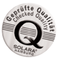 SOLARA geprüfte Qualität - checked quality - Signet